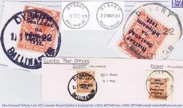 Ireland Roscommon Galway Westmeath 1922 Rubber Climax Dater DYSART BALLINASLOE 11 OCT.22, DYSART MULLINGAR 17 - Ohne Zuordnung