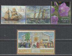 ALAND 402-405, Postfrisch **, Segelschiffe, Glockenblume, Kultur 2015, Nominale 5,80 Euro - Ålandinseln