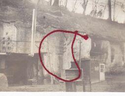 """( 02 ) - Saint-Gobain """" Chamignon-Höhle """" Photo Allemande 1° Guerre - Frankreich"""