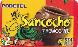 USA - Sancocho, Codetel/IDT Promotion Prepaid Card $2, Exp.date 01/08/04, Used - Unclassified