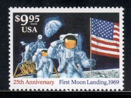 United States 1994 Mi# 2478 ** MNH - Short Set - Moon Landing, 25th Anniv. / Space - United States