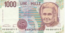 BANCONOTA ITALIA 1000 L. MONTESSORI EF (KP1796 - [ 2] 1946-… : Républic