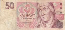 BANCONOTA 50 CORONE REP-CECHIA 1994 VF (KP1802 - Repubblica Ceca