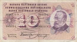 BANCONOTA 10 FRANCHI SVIZZERA 1959 VF (KP1807 - Switzerland
