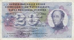 BANCONOTA 20 FRANCHI SVIZZERA 1969 VF (KP1805 - Switzerland