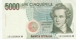 BANCONOTA 5000 BELLINI ITALIA UNC (KP1820 - 5000 Lire