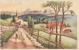 CARTOLINA VIAGGIATA PASTORE CON PECORE TIMBRO FILADELFIA CATANZARO 1951 (KP1829 - Altri