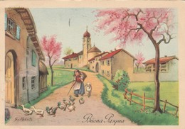 CARTOLINA VIAGGIATA BUONA PASQUA 1955 (KP2081 - Gruss Aus.../ Grüsse Aus...