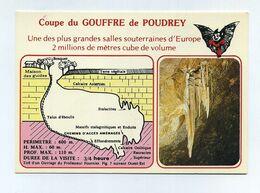 CP Neuve. Coupe Du Gouffre De Poudrey, à Etalans Dans Le Doubs. Stalactites, Grotte, Spéléologie, Chauve-souris... - Other Municipalities