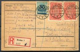 1923 (Sept 19th) Germany Inflation Registered Breslau Postcard - Hastings England - Brieven En Documenten
