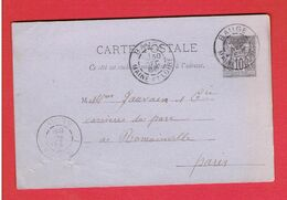 BAUGE 1888 COMMANDE DE PLATRE DE T ODIAU PLATRIER A BAUGE POUR GAUVAIN CARRIERE DU PARC A ROMAINVILLE - Frankreich