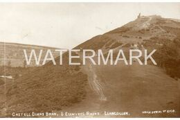 LLANGOLLEN CASTELL DINAS BRAN & EGLWYSEG ROCKS  OLD R/P POSTCARD WALES - Denbighshire