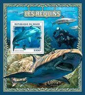 NIGER 2016 - Diving, Sharks - YT BF639; CV=20 € - Tauchen