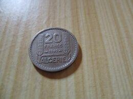 Algérie - 20 Francs Turin 1949.N°629. - Algeria