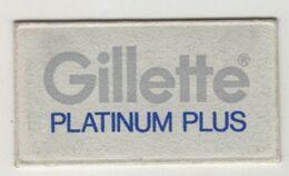 GILLETTE PLATINUM PLUS RAZOR  BLADE - Lames De Rasoir