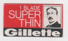 1 BLADE SUPER THIN GILLETTE  RAZOR  BLADE - Lames De Rasoir
