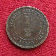 Straits Settlements 1/2 Half Cent 1884 - Otros – Asia