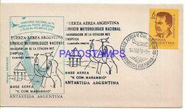 142414 ARGENTINA BUENOS AIRES COVER CANCEL BASE AEREA MARAMBIO ANTARTIDA ANTARCTICA YEAR 1970 NO POSTAL POSTCARD - Argentina
