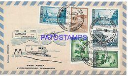 142416 ARGENTINA BUENOS AIRES COVER CANCEL BASE AEREA VICECOMODORO MARAMBIO ANTARTIDA ANTARCTICA YEAR 1971 NO POSTCARD - Argentina