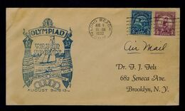 1932 USA Long Beach Olympiad WATER SPORTS Voile LOS ANGELES Discobolo Athletics Sp7035 - Voile