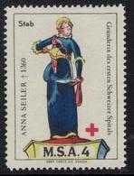 Suisse /Schweiz/Switzerland // Vignette Militaire // Sanitaire , M.S.A. 4 Stab - Viñetas