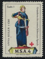 Suisse /Schweiz/Switzerland // Vignette Militaire // Sanitaire , M.S.A. 4 Sekt I - Viñetas