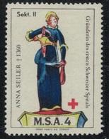 Suisse /Schweiz/Switzerland // Vignette Militaire // Sanitaire , M.S.A. 4 Sekt II - Viñetas