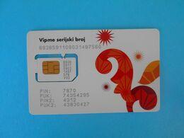 VIP (now A1) - VIPme ( Croatia GSM SIM Card With Chip ) * USED CARD ( Chip Fixed With Tape ) * Croatie Kroatien Croazia - Telecom Operators