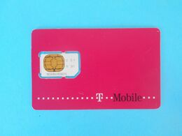 T Mobile  ( Croatia GSM SIM Card With Chip ) * USED CARD ( Chip Fixed With Tape ) * Croatie Kroatien Croazia - Telecom Operators