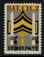 Suisse /Schweiz/Switzerland // Vignette Militaire // Radfahrer-cycliste, Bat.Cyc. 2  RDF Kp. IV/2 - Viñetas