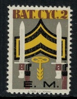 Suisse /Schweiz/Switzerland // Vignette Militaire // Radfahrer-cycliste, Bat.Cyc. 2  RDF Kp. E.M. - Viñetas