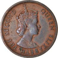 Monnaie, Etats Des Caraibes Orientales, Elizabeth II, Cent, 1955, TB+, Bronze - Caraibi Orientali (Stati Dei)