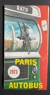 Paris Autobus Linienplan 1973 - Europe