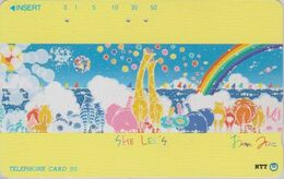 TC JAPON / NTT 231-004 B - Arche De NOE ELEPHANT GIRAFE ZEBRE LION HIPPOPOTAME AUTRUCHE LAPIN Balloon JAPAN Phonecard - Sonstige