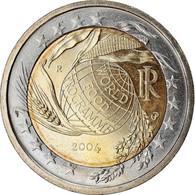 Italie, 2 Euro, World Food Program Globe, 2004, TTB, Bi-Metallic, KM:237 - Italia