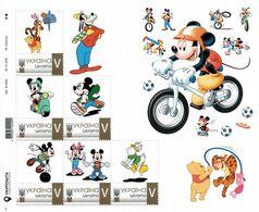 Ukraine 2020, Sport, Cycling, Moto, Disney Cartoon Characters, Sheetlet Of 6v - Ucrania