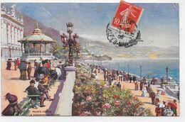 (RECTO / VERSO) MONTE CARLO EN 1908 - N° 20 - LA TERRASSE DU CASINO - Ed. TUCK OILETTE - CPA VOYAGEE - Terrassen