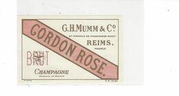 ETIQUETTE CHAMPAGNE MUMM REIMS CORDON ROUGE   ROSE ****  RARE   A SAISIR  **** - Champagne