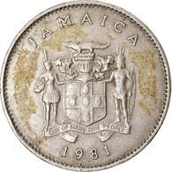Monnaie, Jamaica, Elizabeth II, 10 Cents, 1981, Franklin Mint, TTB - Jamaica