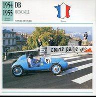 France 1954-55 - DB Monomill - Autos