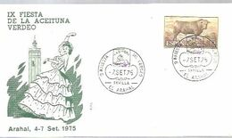 MATASELLOS 1975  EL ARAHAL SEVILA  TEMA ACEITE - 1931-Aujourd'hui: II. République - ....Juan Carlos I