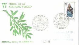MATASELLOS 1972  EL ARAHAL SEVILA  TEMA ACEITE - 1931-Aujourd'hui: II. République - ....Juan Carlos I