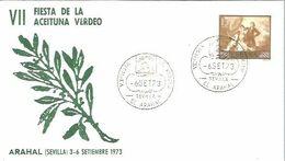 MATASELLOS 1973  EL ARAHAL SEVILA  TEMA ACEITE - 1971-80 Storia Postale