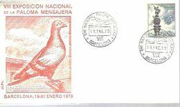 MATASELLOS 1973   PALOMA MENSAJERA - 1971-80 Storia Postale