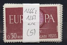 Europa CEPT 1960 France - Frankreich Y&T N°1266 à 1267 - Michel N°1318 à 1319 *** - Lot De 5 Séries - Europa-CEPT