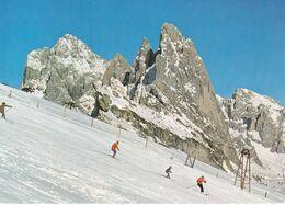 ORTISEI IN VAL GARDENA - BOLZANO - DOLOMITI - PARTENZA DA SECEDA  CON IL GRUPPO DELLE ODLE - SKILIFT - 1986 - Bolzano (Bozen)