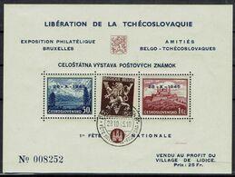 BELGIE Belgien - CSSR AS14* / Lidické Lidice / Belgie 1945 / Ceskoslovensk / Bratislava 1937 / Francouzskýtextu - Autres