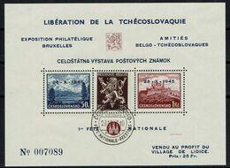 BELGIE Belgien - CSSR AS14(*) / Lidické Lidice / Belgie 1945 / Ceskoslovensk / Bratislava 1937 / Francouzskýtextu - Autres