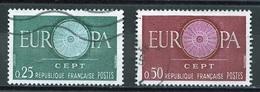 Europa CEPT 1960 France - Frankreich Y&T N°1266 à 1267 - Michel N°1318 à 1319 (o) - Europa-CEPT
