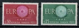 Europa CEPT 1960 France - Frankreich Y&T N°1266 à 1267 - Michel N°1318 à 1319 *** - Europa-CEPT